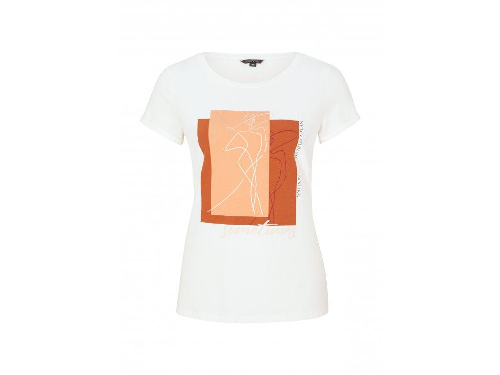 T-shirt Comma bílá