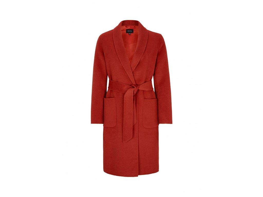 Vlněný červený kabát