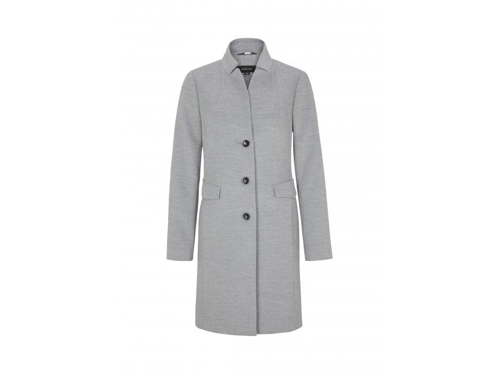Šedý dlouhý plášť