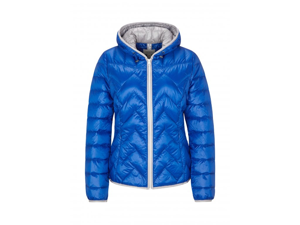 Modrá péřová bunda