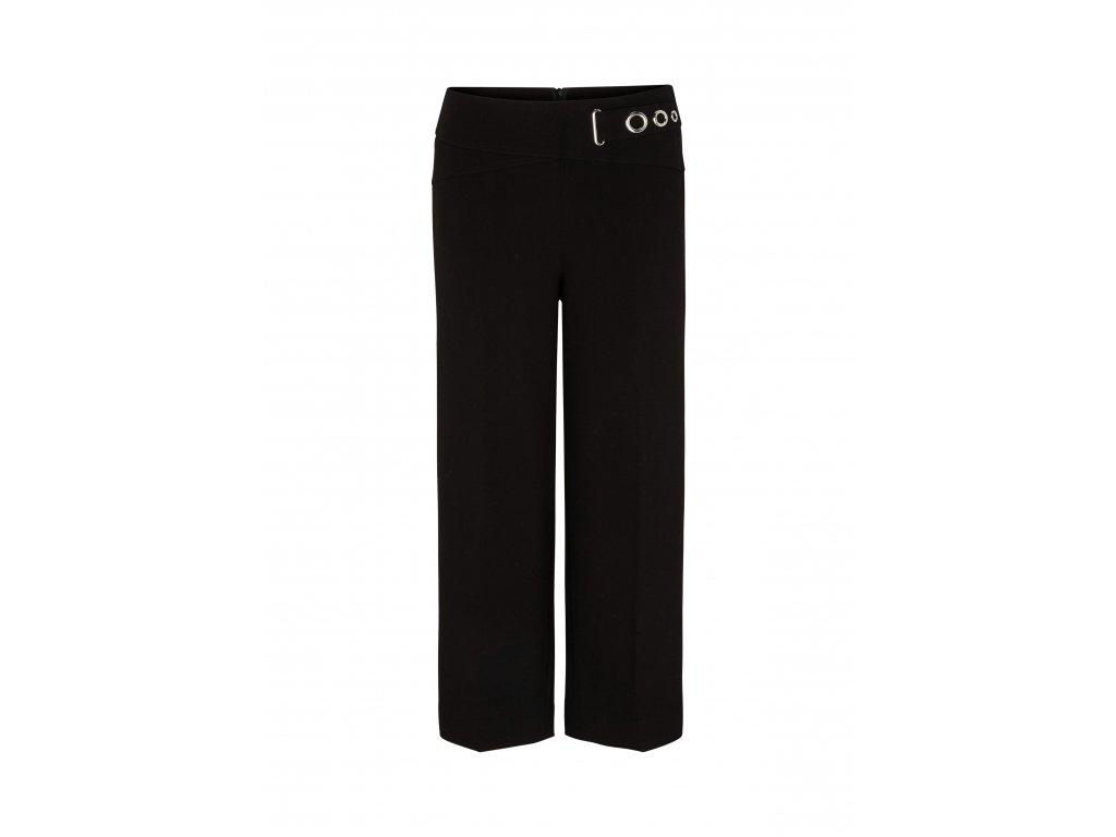 Černé kostýmkové kalhoty
