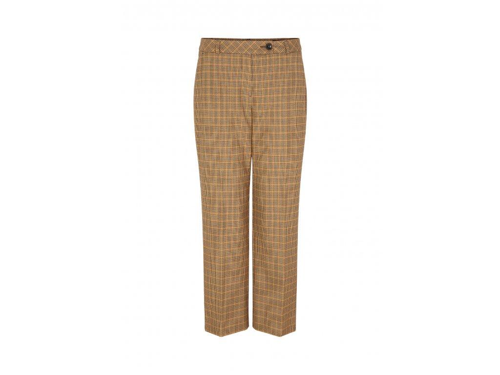 Kostkované široké kalhoty