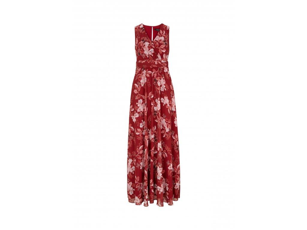 Červené květinové šaty