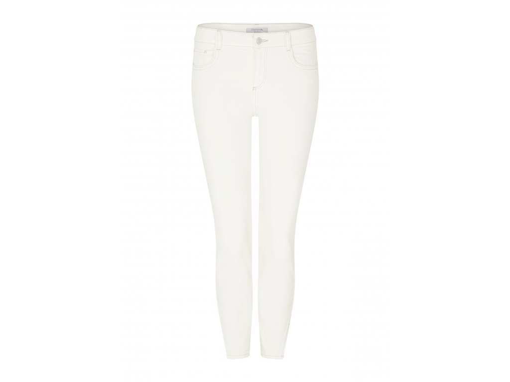 Bílé strečové kalhoty