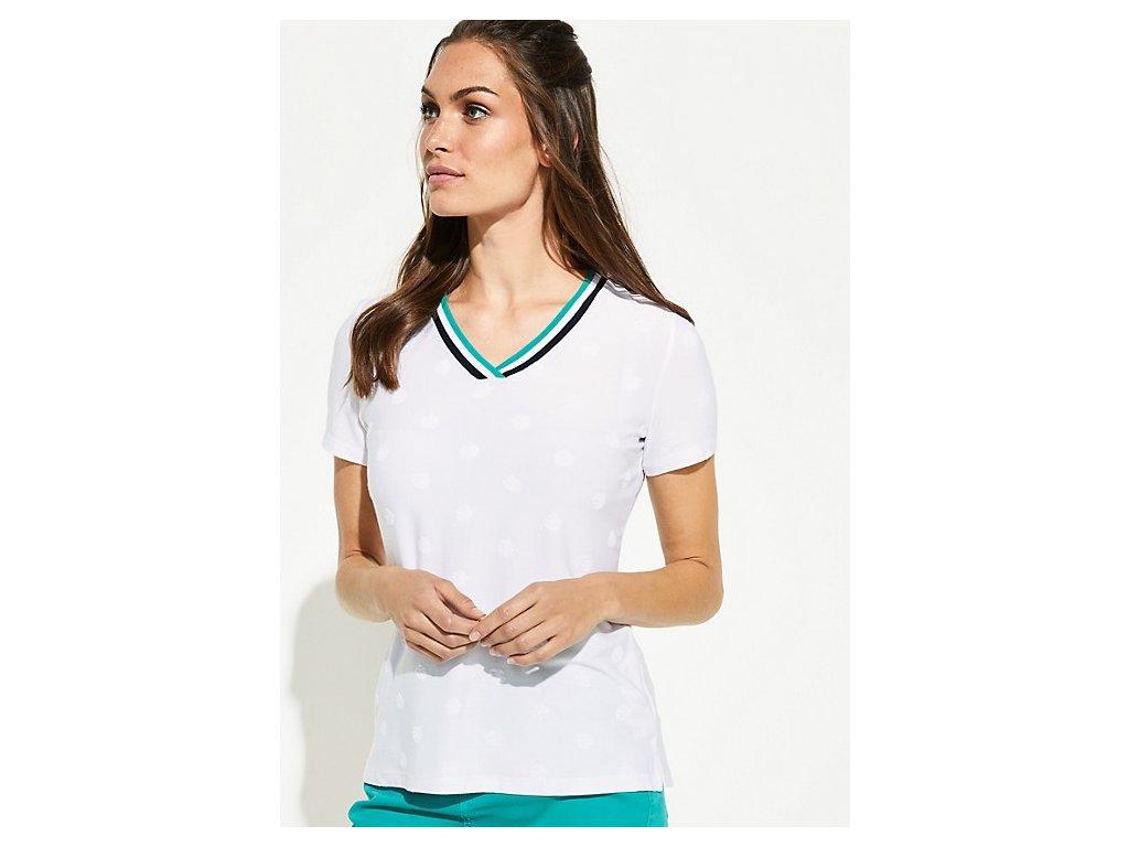 Bílé triko s puntíky