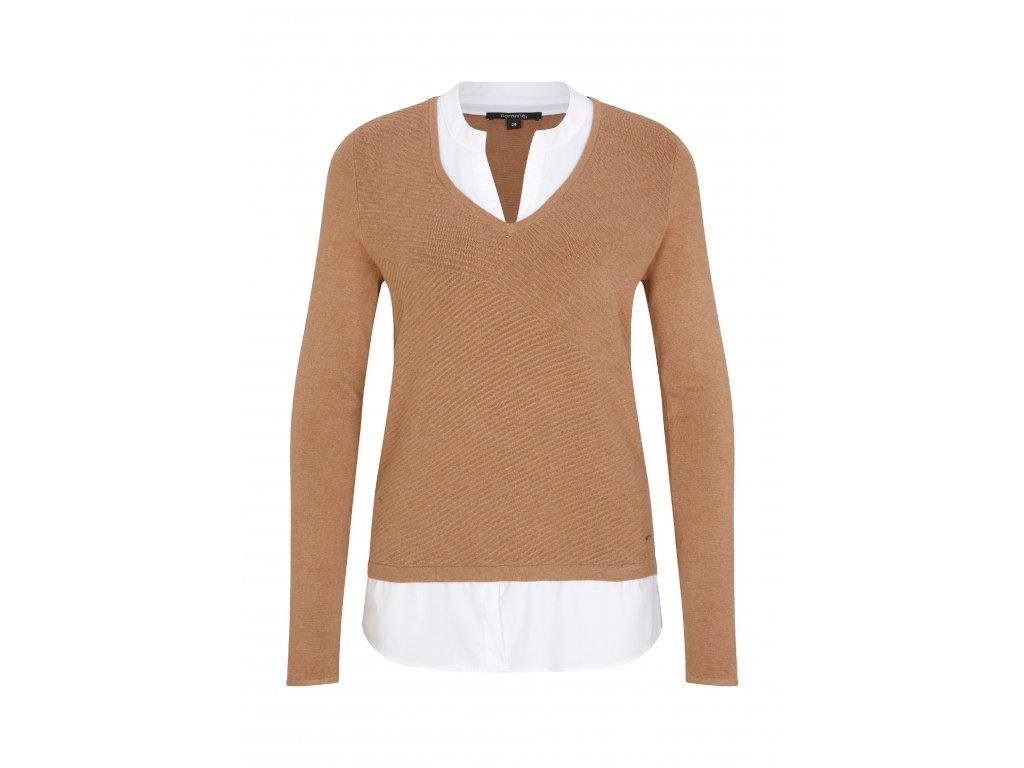 Hnědý pulovr