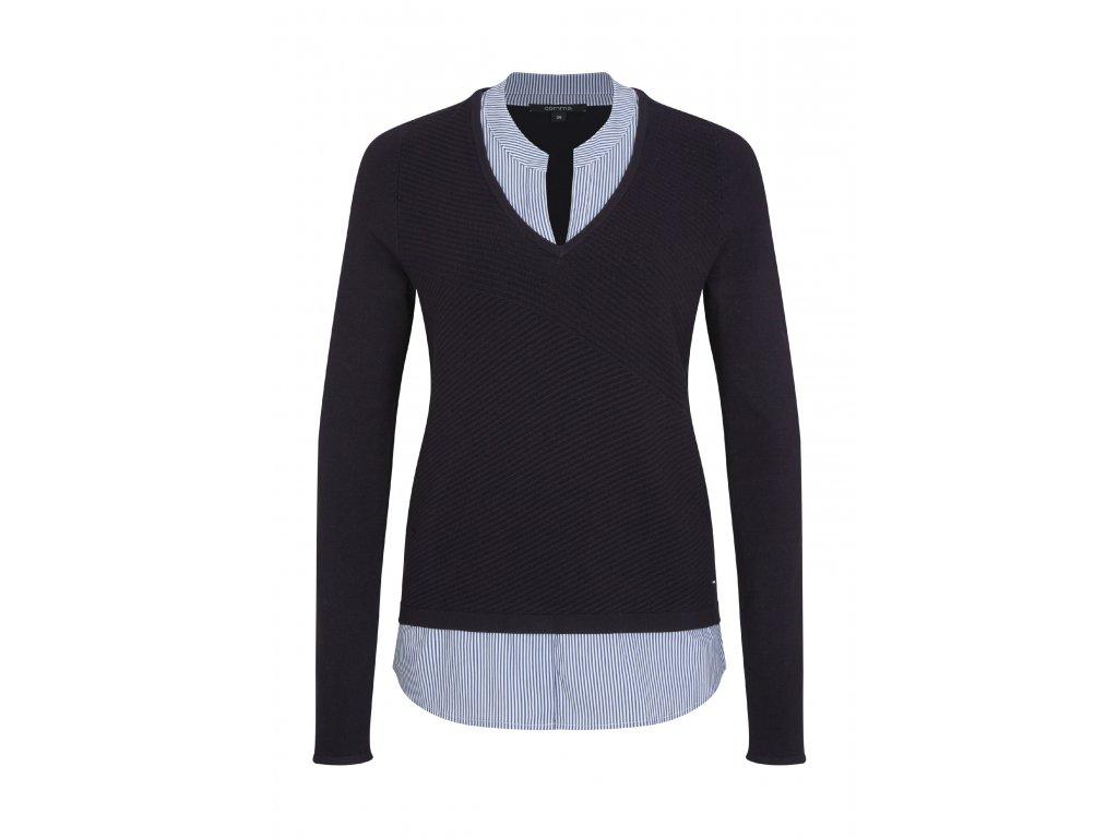 Tmavě modrý pulovr