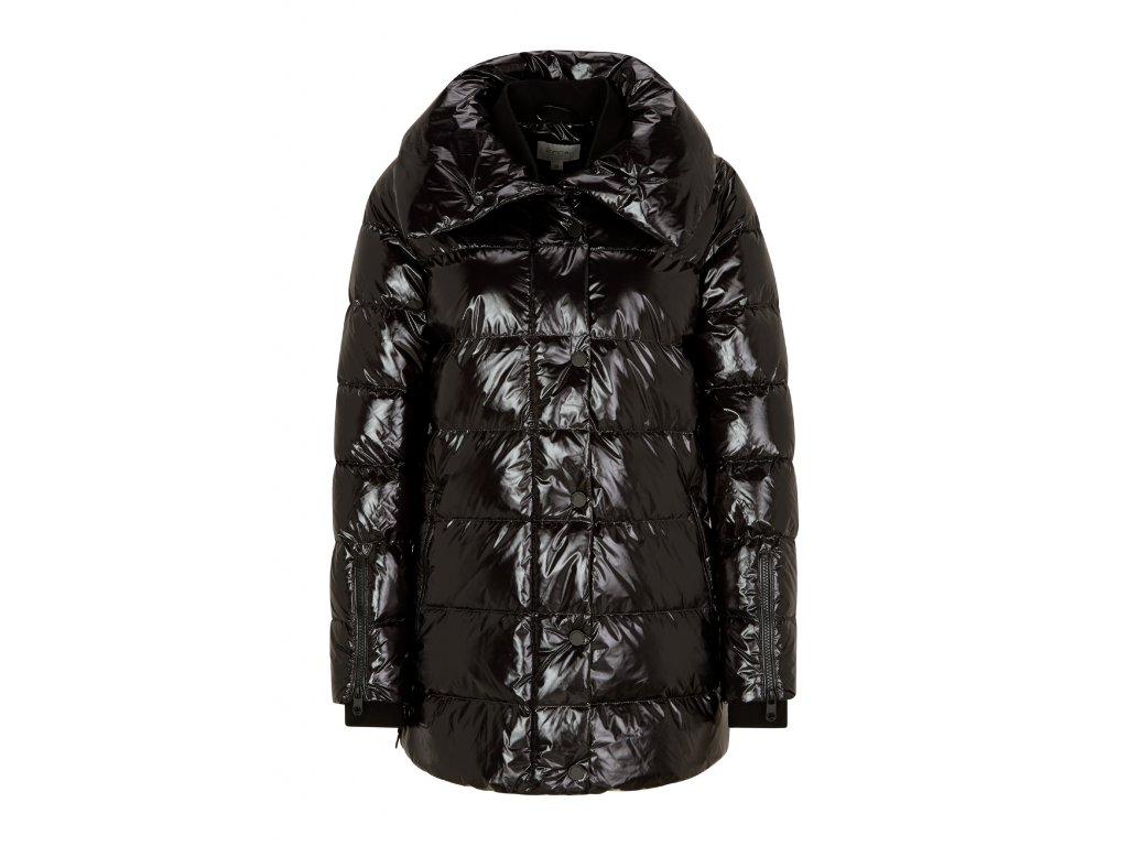 Černý péřový kabát