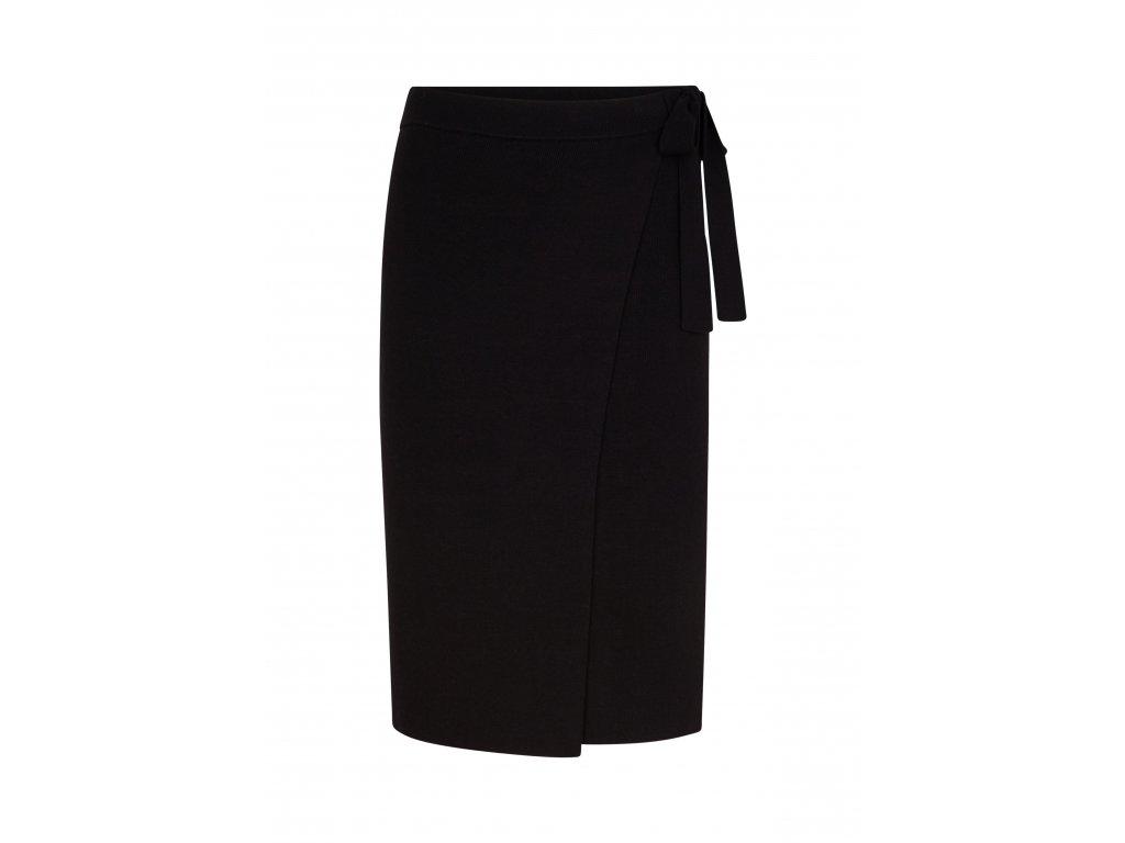 Černá zavinovací sukně