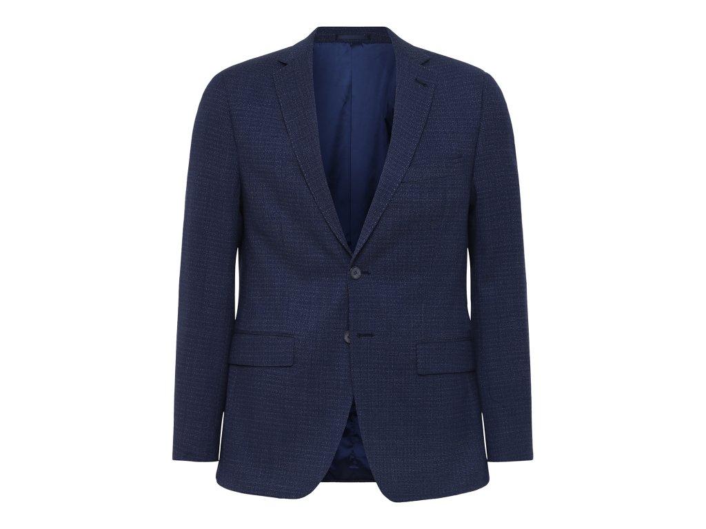 Modré sako s jemnou kostkou