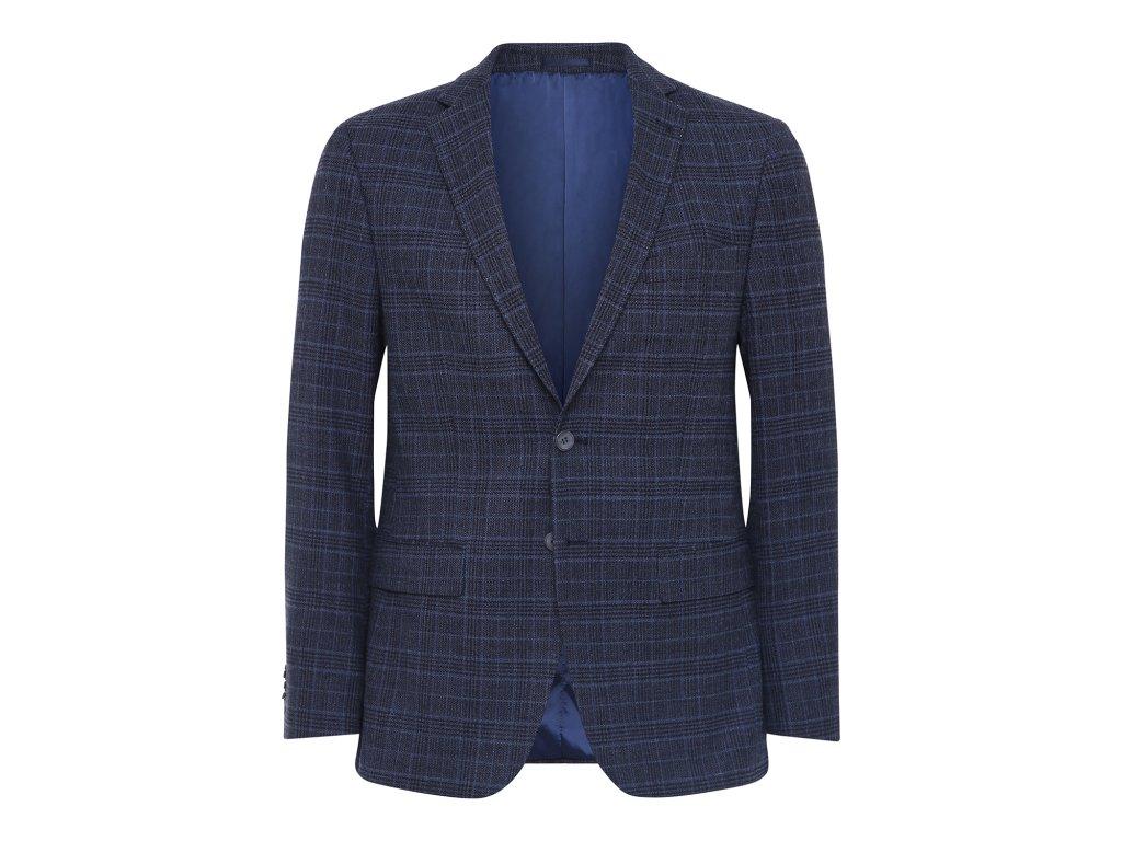 Tmavě modré kostkované sako
