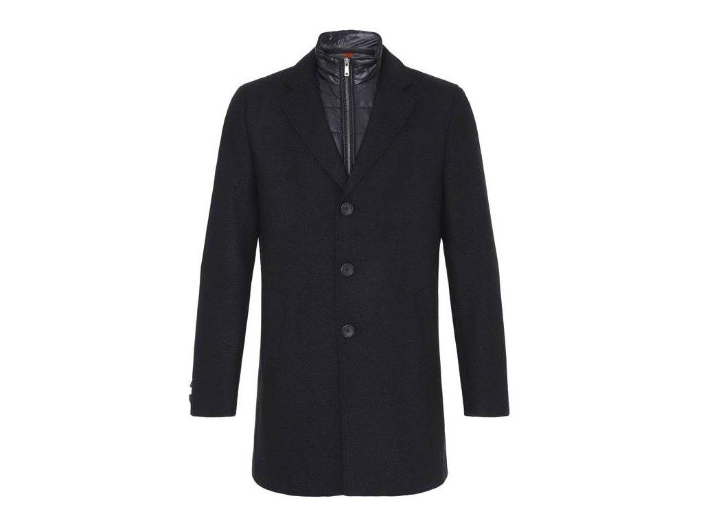 Černý kabát s vsadkou