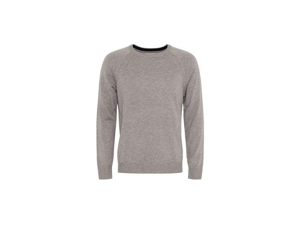 Šedý elegantní svetr