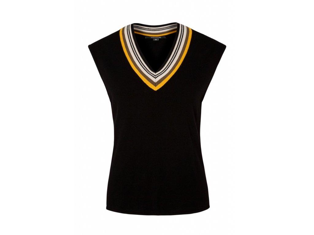Černá pulovr vesta