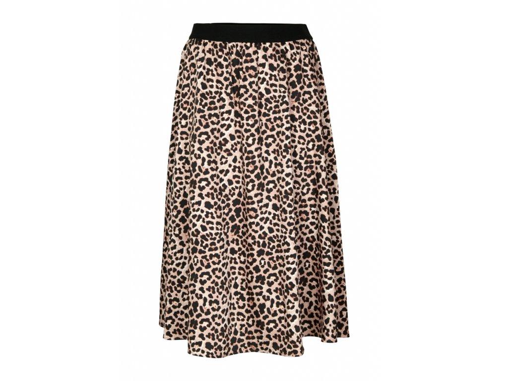 Midi sukně s leopardím vzorem