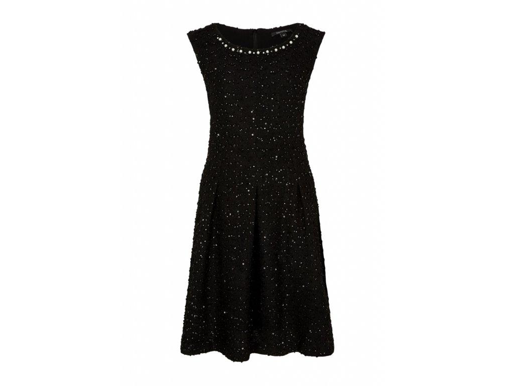 Černé šaty s perličkami