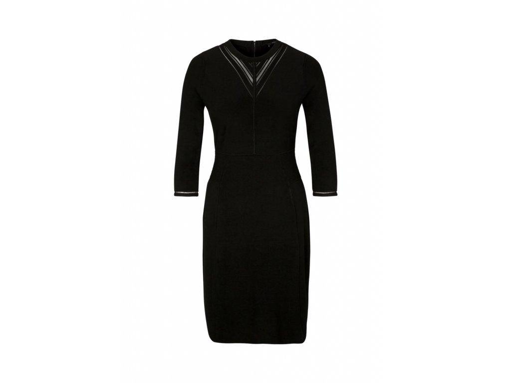 Černé šaty s rukávy