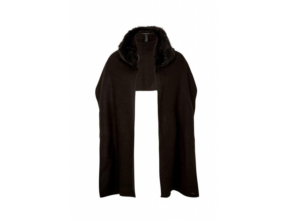 Černá šála s kožíškem
