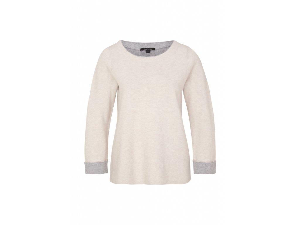 Béžový basic pulovr