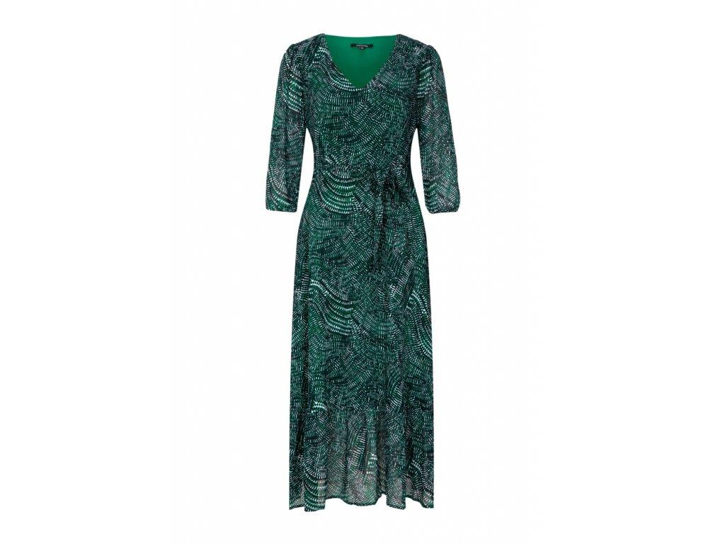 Smaragdové šaty s potiskem