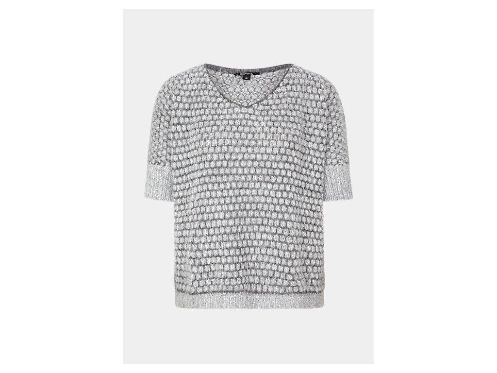 Pletený svetr s krátkým rukávem