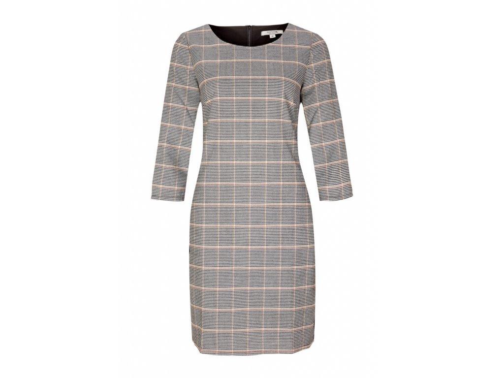 Kostkované business šaty