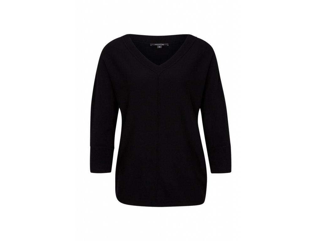 Černý basic pulovr