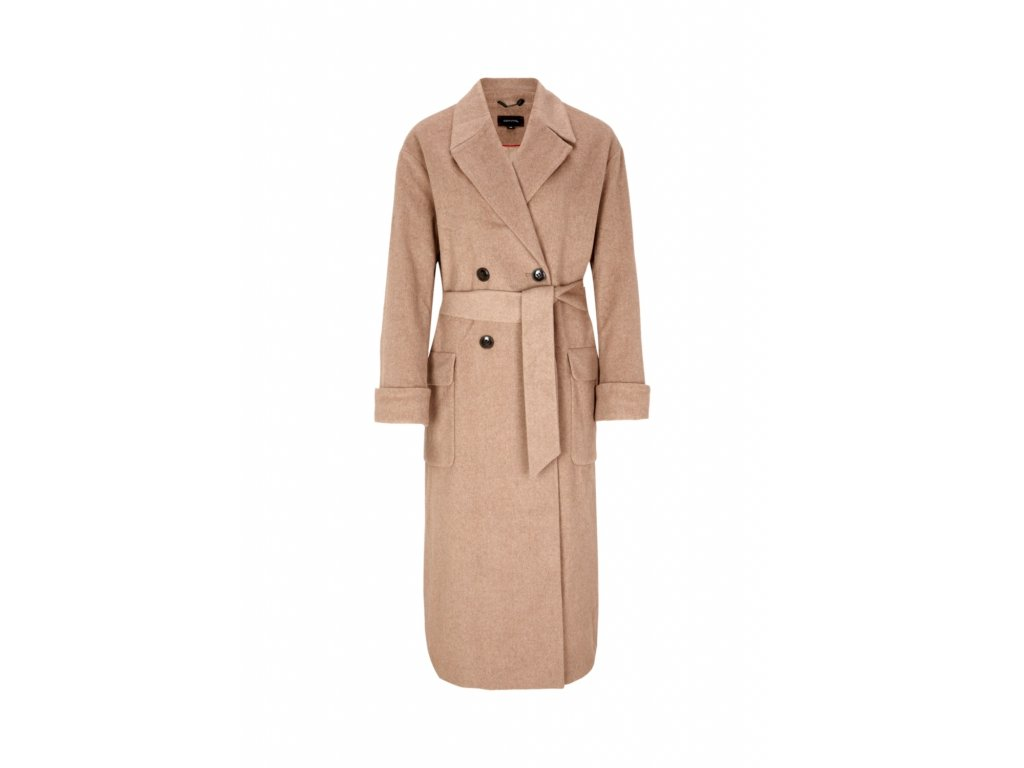 Béžový dlouhý kabát