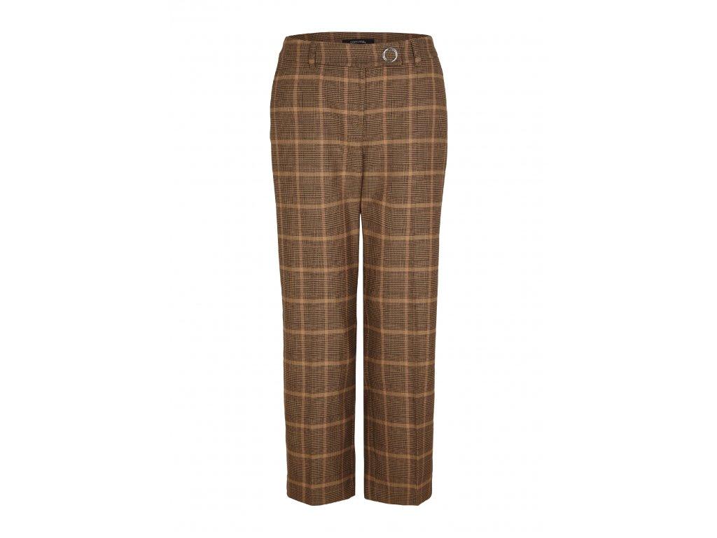Kostkované hnědé kalhoty