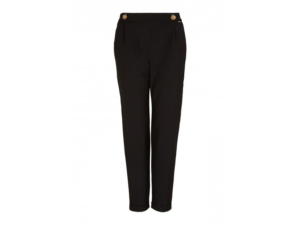Černé kalhoty s knoflíky