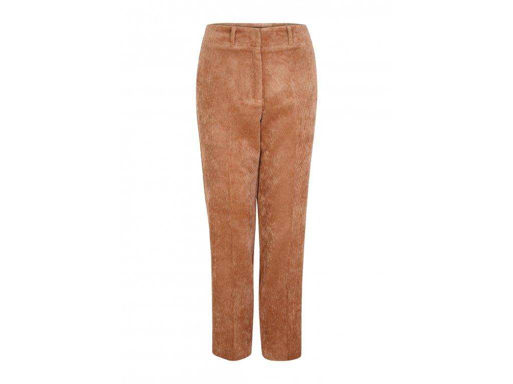Béžové manšestrové kalhoty