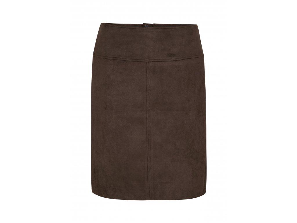 Semišová pouzdrová sukně