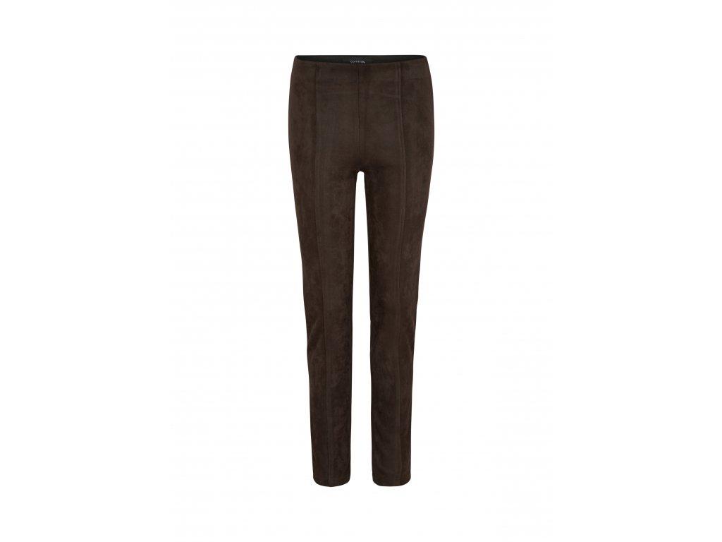 Semišové strečové kalhoty