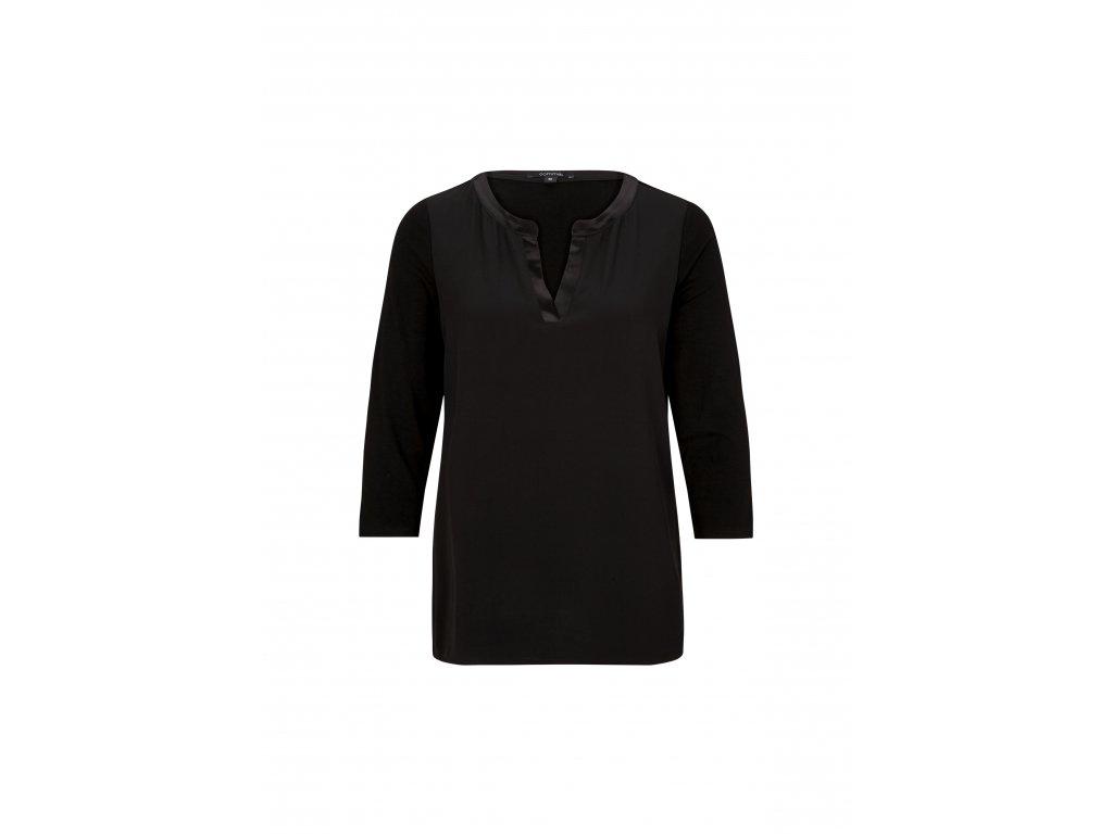 Černé tričko s delším rukávem