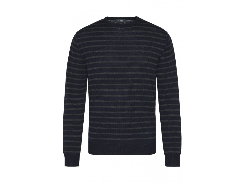 Modrý pruhovaný pulovr Ayu
