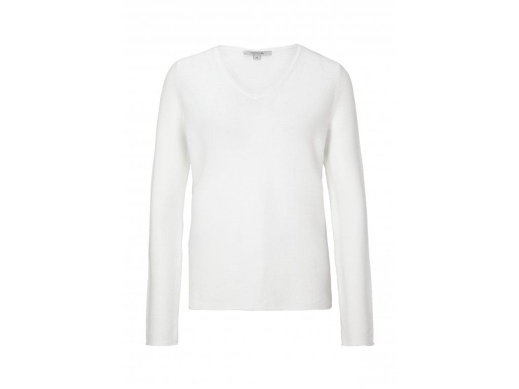 Bílý basic svetr