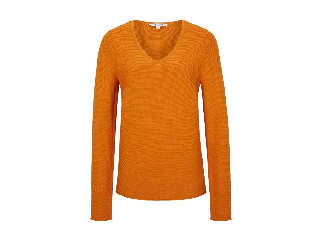 Oranžový basic svetr