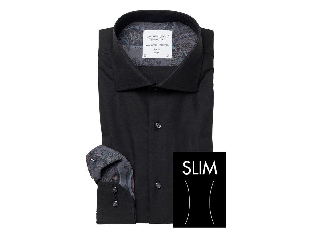 Slim Fit košile Fine Twill w/Spa