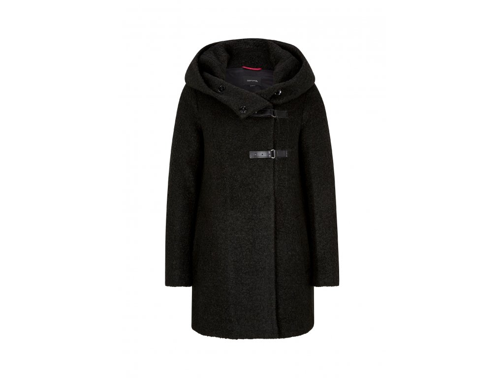 Dlouhý kabát s kapucí