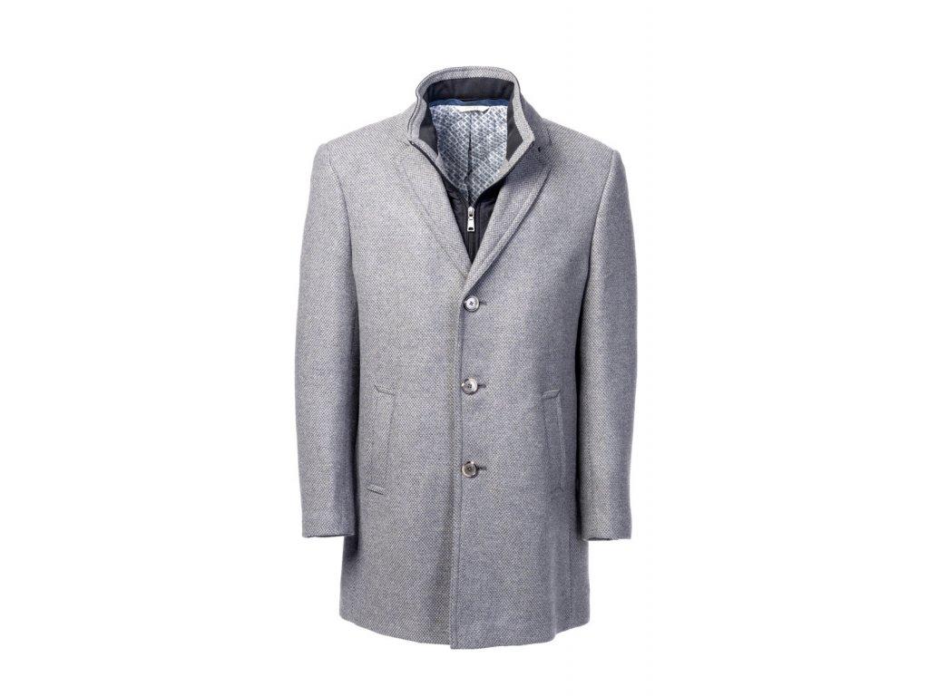 Světle šedý kabát Boston