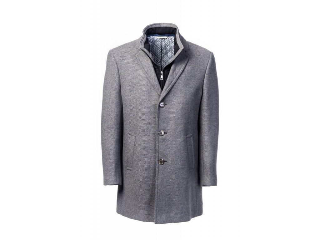 Tmavě šedý kabát Boston
