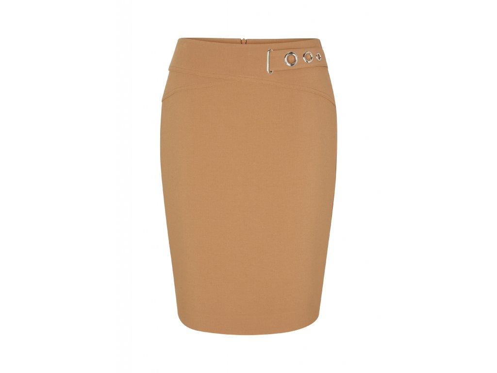 Pouzdrová sukně s páskem