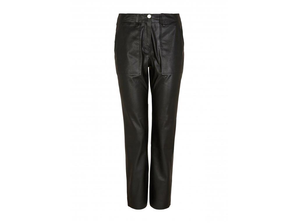 Černé kalhoty z eko-kůže