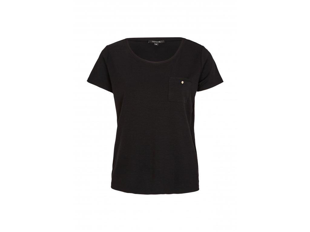 Černé triko s kapsičkou