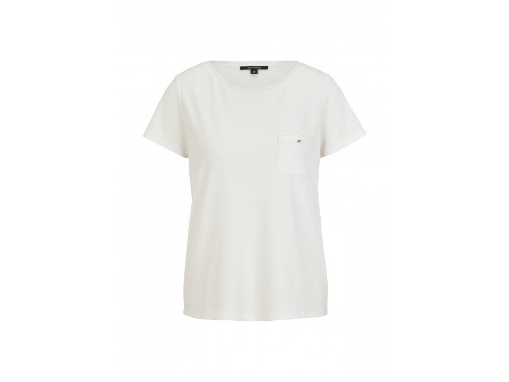 Bílé tričko s kapsičkou