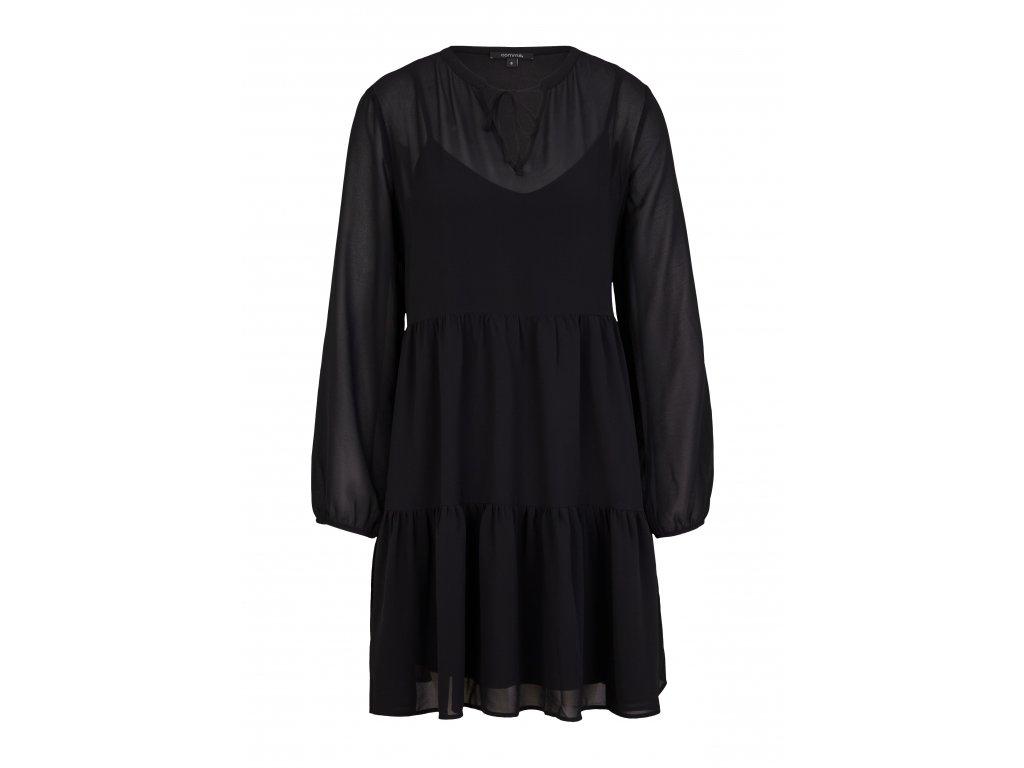 Černé tunikové šaty