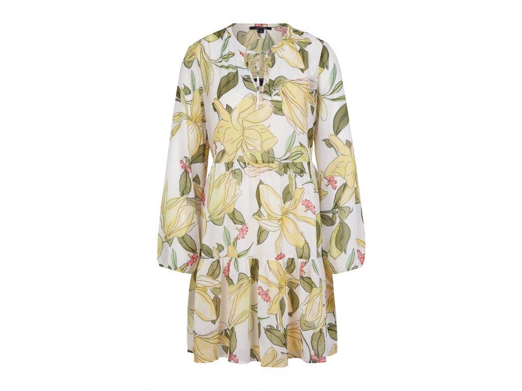Květované tunikové šaty