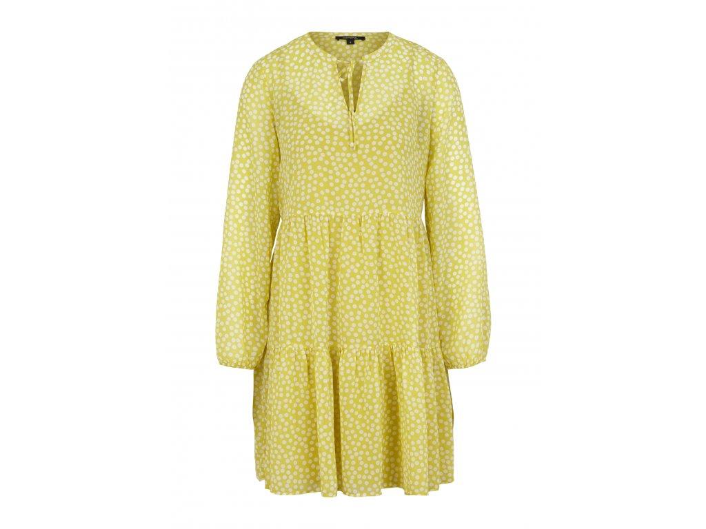 Puntikované tunikové šaty