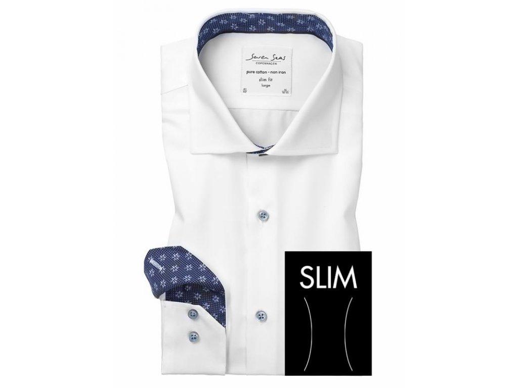 Slim fit košile Fine Twill