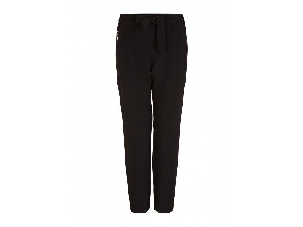 Elastické černé kalhoty